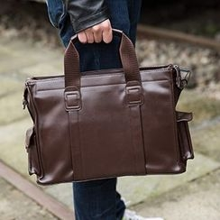 Yiku - Faux Leather Business Bag