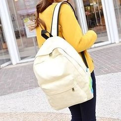 Bagolo - Paneled Canvas Backpack