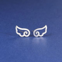 Zundiao - Silver Wing Stud Earrings
