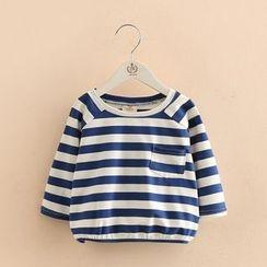 贝壳童装 - 儿童条纹长袖T恤