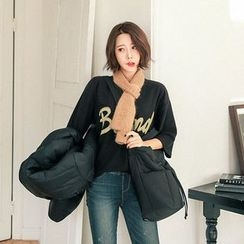 Seoul Fashion - 3/4-Sleeve Printing T-Shirt