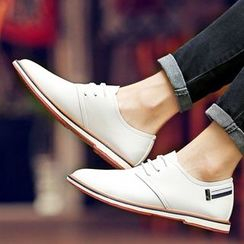 Shino - Paneled Lace-Up Casual Shoes
