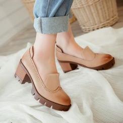 錦洋鞋業 - 布洛克粗跟高跟鞋
