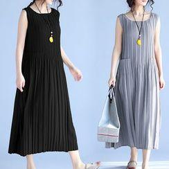 Taragon - 饰褶背心长裙