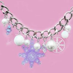 Sweet & Co. - Sweet&Co. Blue Snow Flurry Starlight Swarovski Crystal Bracelet