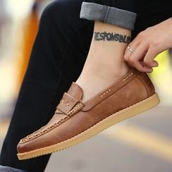 Shino - Stitch-Accent Loafers