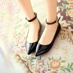Megan - Ankle-Strap Pointy Toe Flats