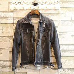 Sundipy - Washed Distressed Denim Jacket