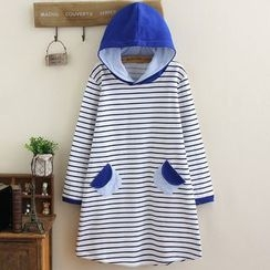 Suzette - Striped Hooded Long Pullover