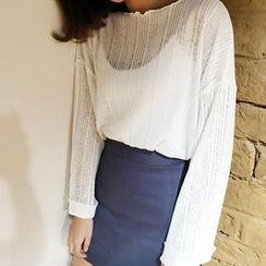 HELLO KANO - 薄紗針織上衣