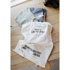GOROKE - Lettering Canvas Shopper Bag (4 Designs)
