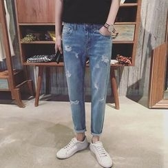 Arthur Look - Distressed Washed Jeans
