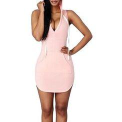Flobo - Sleeveless Hooded Dress