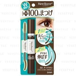 SANA - New Born W Mascara Ex (Dark Brown)