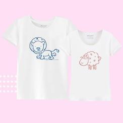Pretty Kitties - Short-Sleeve Printed Couple T-Shirt