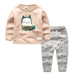 Kido - 童裝套裝: 卡通衛衣 + 褲