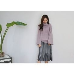 Hello sweety - Accordion-Pleated Midi Skirt