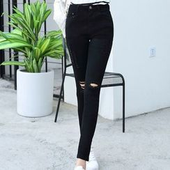 Iscat - Ripped Skinny Jeans / Boot-Cut Jeans