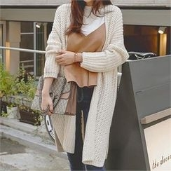 TOM & RABBIT - Open-Front Chunky-Knit Long Cardigan