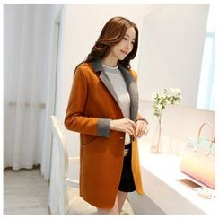 Persephone - Two-tone Woolen Coat