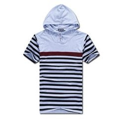 MR.PARK - Striped Hooded Top