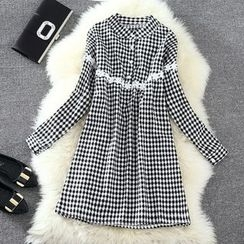 Clementine - Long-Sleeve Check Dress