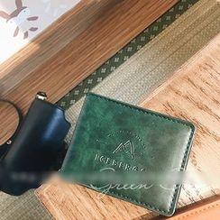 GREEN ZAKKA - Faux Leather Passport Cover