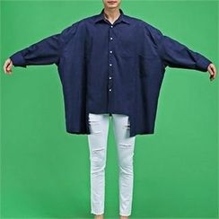 THE COVER - Oversized Asymmetric Long-Sleeve Shirt