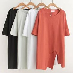 Nycto - 短袖開衩T恤裙