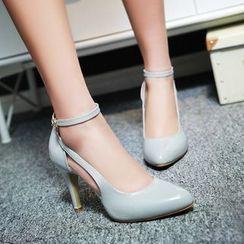 缤纷女鞋 - 踝带高跟鞋