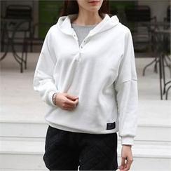 CHICFOX - Hood Fleece-Lined Pullover