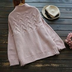 YOYO - Mock-Neck Plain Sweater
