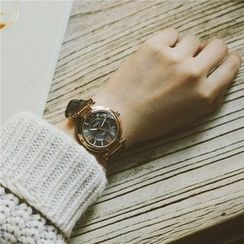 InShop Watches - Genuine-Leather Strap Watch