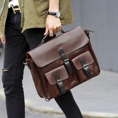 ETONWEAG - Buckled Faux Leather Shoulder Bag