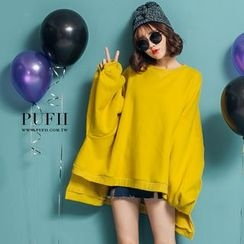 PUFII - Fleece-Lined Loose-Fit Pullover