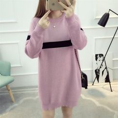 Dream Girl - Contrast Trim Sweater Dress
