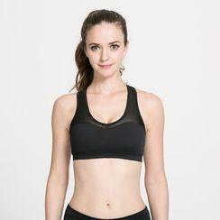 Chanson - 網紗拼接運動胸衣