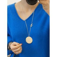 STYLEBYYAM - Circle Metal Pendant Necklace