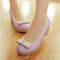 Sidewalk - Bow Platform Pumps
