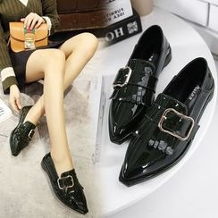 安若 - 流蘇尖頭樂福鞋