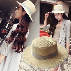 SHUMI - Straw Boater Hat