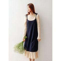 J-ANN - Spaghetti-Strap Slit-Side Dress