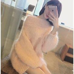 Emeline - Off-Shoulder Chunky Knit Dress