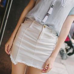 Wimi girls - Fray Hem Denim Skirt