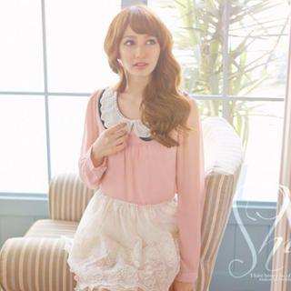 Tokyo Fashion - Layered-Collar Chiffon Blouse