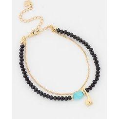 Miss21 Korea - Double-Strand Bead Bracelet