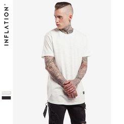Newin - Short-Sleeve Side Slit T-Shirt