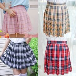 Nikiki - Plaid Pleated Skirt