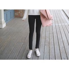 Envy Look - Cutout-Hem Skinny Pants