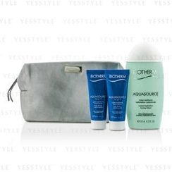 Biotherm 碧欧泉 - Aquasource Set: Instant Hydration Toning Lotion 125ml + Hydrating Jelly 2x20ml + Bag